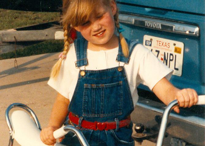 Kate with Bike