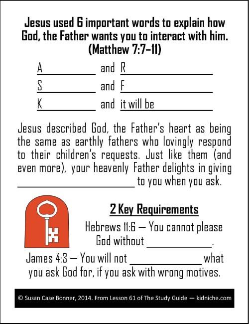 Ask Seek Knock Sample Card