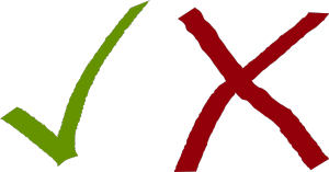 tick-cross openclipart