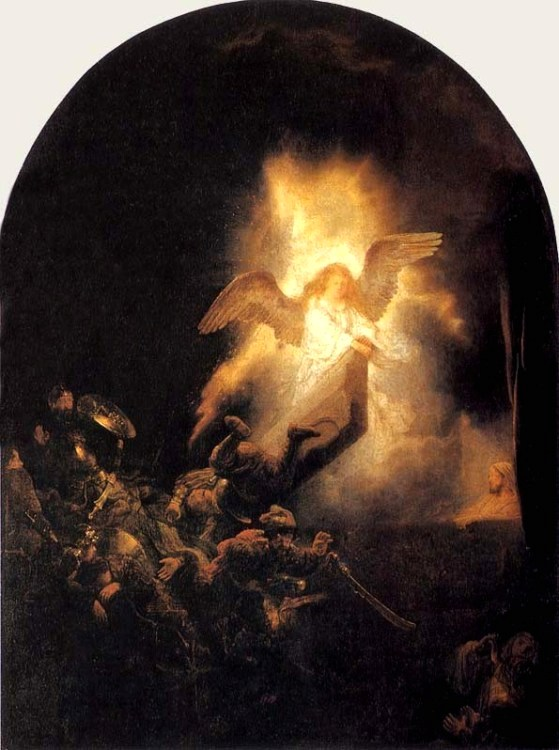 The Resurrection by Rembrandt, 1635.