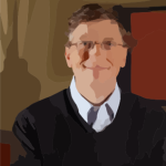 Large Bill Gates