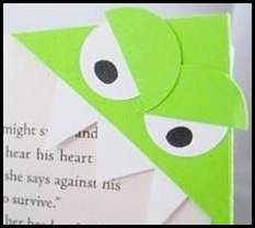 green eyed monster bookmark