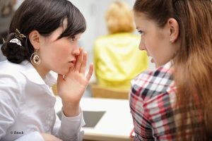 Teenage Girls Gossip Classroom
